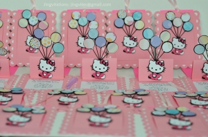 hello kitty pop up balloon invitations (1)