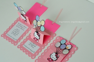 hello kitty pop up balloon invitations (3)