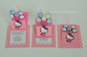 hello kitty pop up balloon invitations (4)