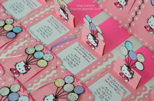 hello kitty pop up birthday invitations