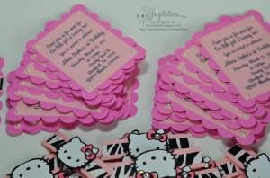 hello kitty zebra pink birthday invitations