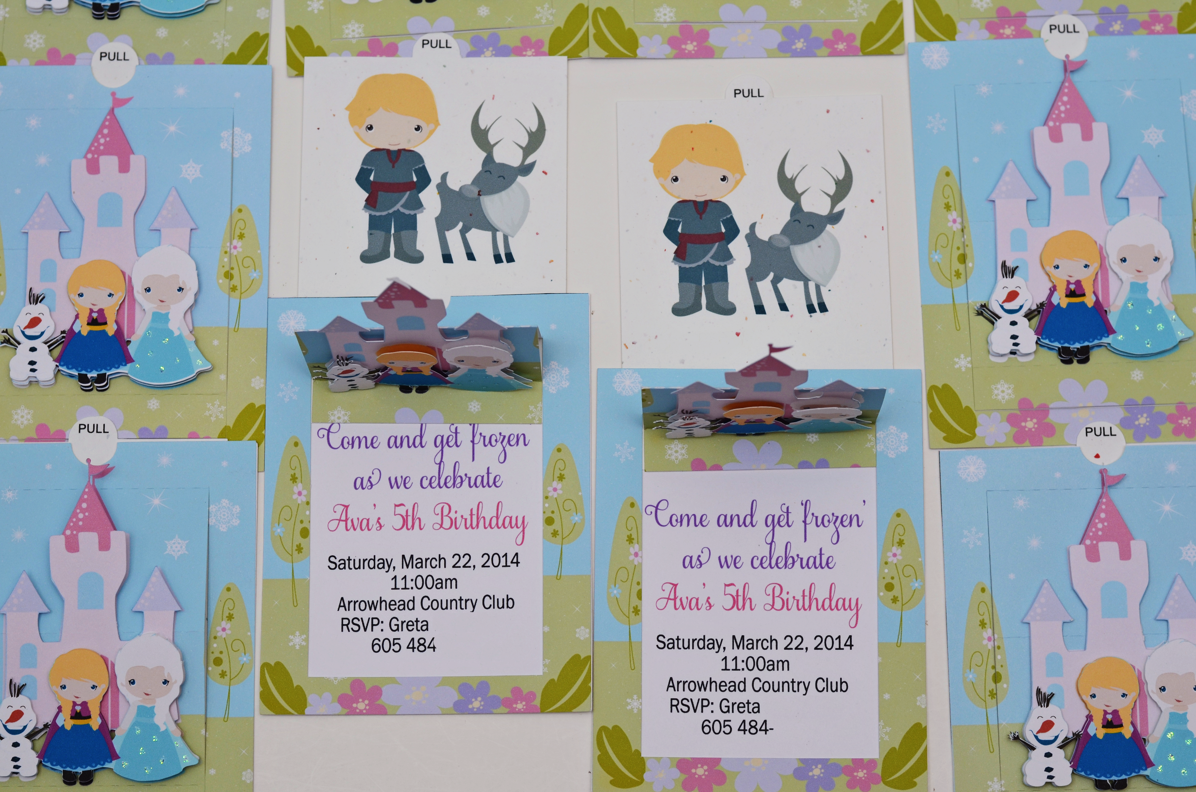Handmade Frozen Birthday Invitations