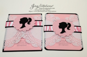barbie doily invitations (2)