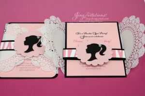 barbie doily invitations (8)