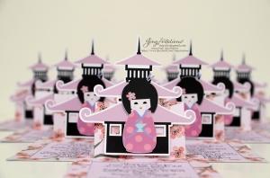 cherry blossom invitations kokeshi japanese doll (22)