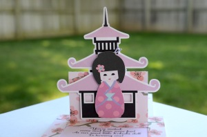 cherry blossom invitations kokeshi japanese doll (27)