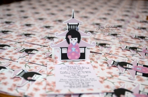 cherry blossom invitations kokeshi japanese doll (5)