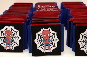 Handmade Spiderman invitations (1)