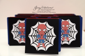 Handmade Spiderman invitations (6)