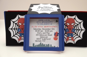 Handmade Spiderman invitations (9)